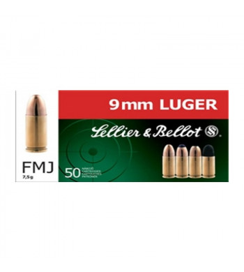 S&B 9 mm Luger / 9 mm Para Vollmantel 7,5g