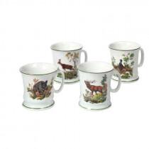 KETTNER Kaffeehäferl Set (4 Stück) mit verschiedenen Jagdmotiven