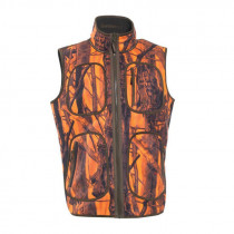 DEERHUNTER Gamekeeper Fleeceweste Orange/Blase camo