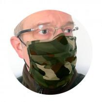 Mund-Nasen Maske grün/braun camo