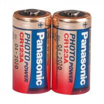 PANASONIC Batterien CR123A, 2 Stück