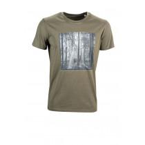 """LADY EDELWEISS Herren T-Shirt """"Hirsch"""" oliv"""