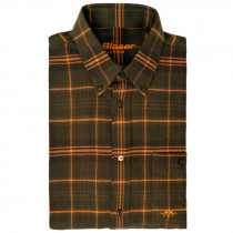 "BLASER H-Hemd ""Juri"" Flanell oliv/burned orange"