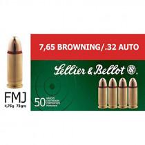 S&B 7,65 mm Browning / 32 Auto Vollmantel 4,75g