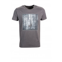 "LADY EDELWEISS Herren T-Shirt ""Hirsch"" anthrazit"