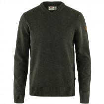 FJÄLLRÄVEN Övik Sweater V-Hals dark oliv