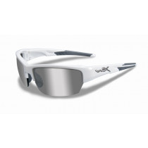 WILEY X Schieß- /Sonnenbrille WX SAINT, Silver Flash/Gloss White