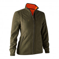 DEERHUNTER D-Fleece Lady Pam reversible orange/grün