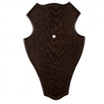 Gehörnschild Eiche dunkel 19x12 cm