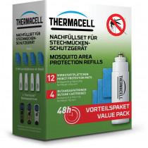 THERMACELL Nachfüllpackung 4 Gaskartuschen/12 Plättchen