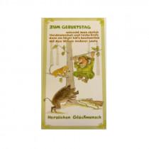 """FRITZMANN """"Jäger auf Baum"""" Geburtstagskarte"""