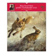 PAREY Rien Poortvliets Großer Tierkalender 2021