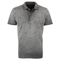 OS-TRACHTEN H-Poloshirt grau