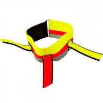 ZANTEX Signalhalsung neongelb 3 Fahnen, dehnbar