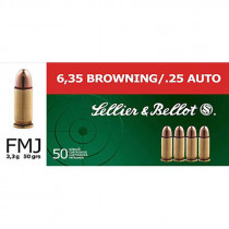 S&B 6,35mm Browning/.25 Auto Vollmantel 3,3g