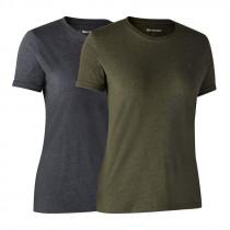 DEERHUNTER  Damen T-Shirt 2er Pack adventure green melange