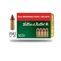 S&B 9mm Browning Court/ 380 Auto Vollmantel 6g