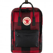 "FJÄLLRÄVEN Kanken Re-Wool 15"" Laptop red/black"