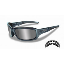 Schießbrille WX ECHO Silver Flash/Smoke Steel Blue