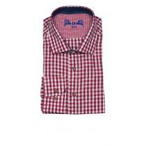 OS-Trachten Herrenhemd Beere