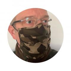Mund-Nasen Maske braun camo