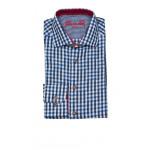 OS-Trachten Herrenhemd Blau